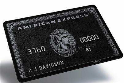 American Express Centurion Card: Black Amex, schwarze Karte - ZKA