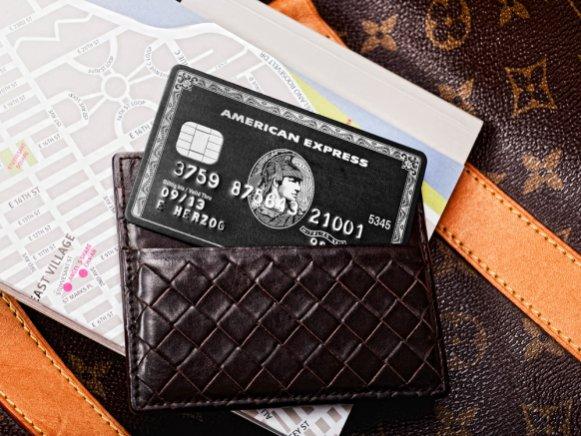 American Express Amex Centurion, schwarz, black
