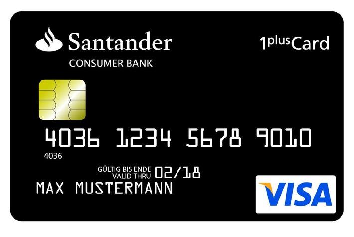santander 1plus visa card kreditkarte test warum ist sie. Black Bedroom Furniture Sets. Home Design Ideas