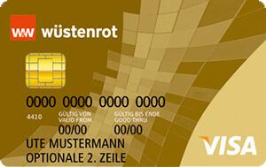 Wüstenrot Prepaid Gold Kreditkarte