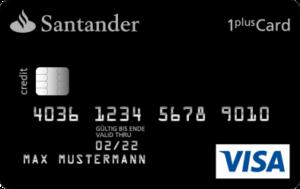 Santander 1plus Visa Kreditrahmen Sofort